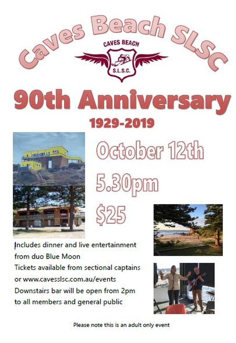 Caves Beach SLSC 90th Anniversary